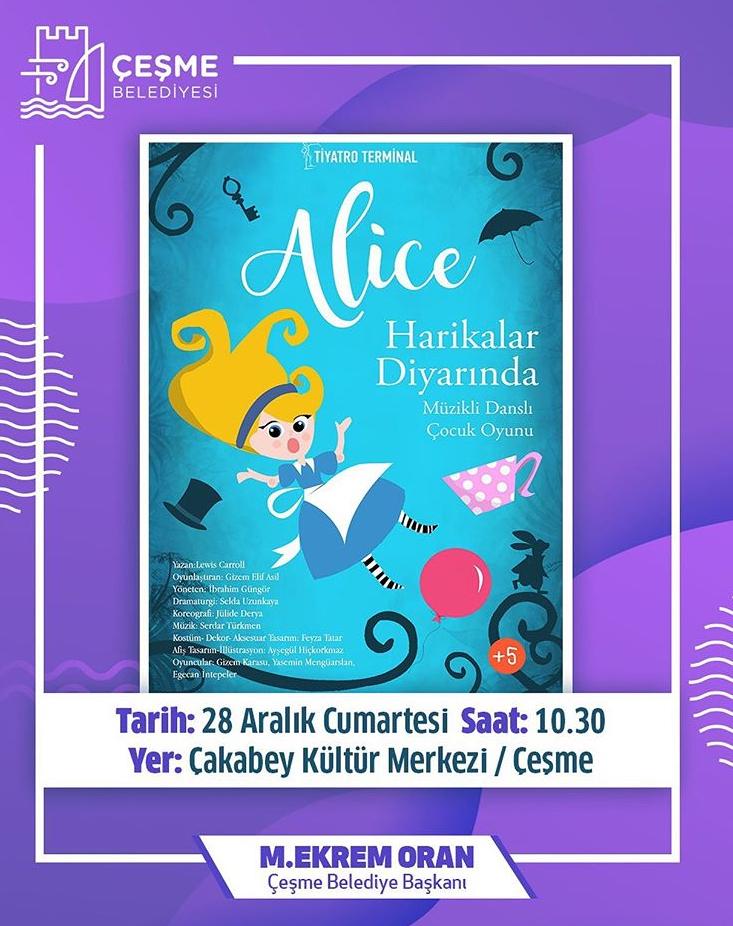Alice Harikalar Diyarında 'Çeşme Çakabey Kültür Merkezi'
